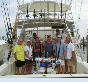 Salt water fishing charter