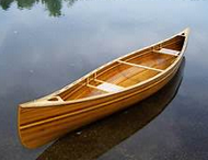 fiberglass-and-cedar-strip for canoe fishing