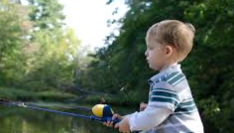 child-fishing with beginner rod