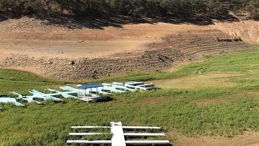 fishermen frustrated on lake nacimiento